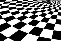 Schwarzer u. weißer mit Ziegeln gedeckter Hintergrund Lizenzfreie Stockfotografie