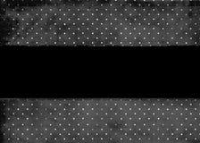 Schwarzer u. weißer punktierter Hintergrund Lizenzfreie Stockfotos