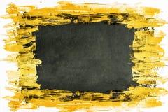 Schwarzer und gelber Acrylhintergrund Stockbild