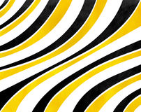 Schwarzer und gelber gestreifter Hintergrund des Aquarells Lizenzfreies Stockbild
