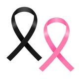 Schwarzer und rosa Bandvektor Lizenzfreie Stockfotografie