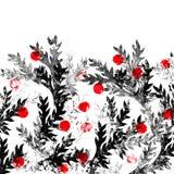 Schwarzer und roter Blumenhintergrund Stockfotos
