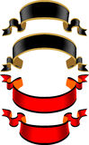 Schwarzer und roter Kennsatz stock abbildung