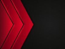 Schwarzer und roter metallischer Hintergrund Metallische Fahne des Vektors Abstrakter Technologie-Hintergrund lizenzfreie abbildung