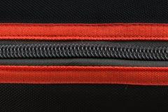 Schwarzer und roter Reißverschluss Lizenzfreies Stockbild