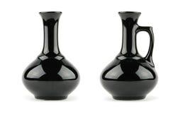 Schwarzer Vase Stockfoto