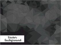 Schwarzer Vektorhintergrund mit Dreiecken Stockbilder