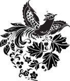 Schwarzer Vektorvogel Stockfotografie