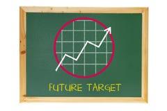 Schwarzer Vorstand mit Wachstum-Diagramm stockbilder