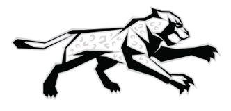 Schwarzer, weißer, grauer Jaguar Stockbilder
