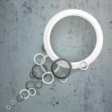 Schwarzer weißer Ring-Endstück-Beton lizenzfreie abbildung