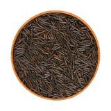 Schwarzer, wilder Reis Lizenzfreies Stockfoto