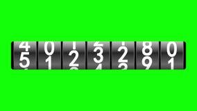 Schwarzer Zähler auf Grün vektor abbildung