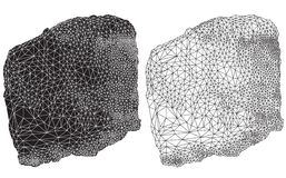 Schwarzes abstraktes geometrisches Federzeichnung Lizenzfreie Stockfotografie