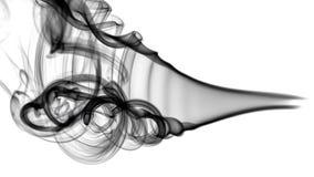 Schwarzes abstraktes Rauchmuster und -kurven Lizenzfreies Stockbild