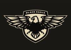 Schwarzes Adlersymbol, Emblem Stockfoto