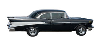 Schwarzes amerikanisches klassisches Auto Lizenzfreie Stockfotos
