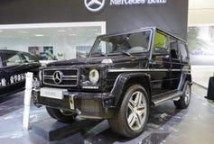 Schwarzes amg Mercedes g63 Stockbild