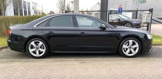 Schwarzes Audi A8 Stockbilder