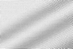 Schwarzes auf Halbtonvektor des weißen Schmutzes Digital punktierte Beschaffenheit Radial-dotwork Steigung für Weinleseeffekt lizenzfreie abbildung