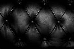 Schwarzes aufgefülltes Leder Lizenzfreie Stockfotos