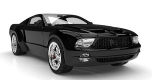 Schwarzes Auto Stockfotografie