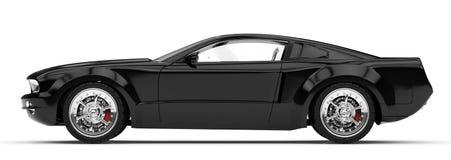Schwarzes Auto Lizenzfreie Stockfotos