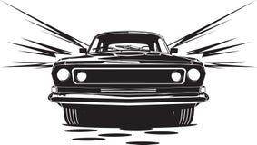 Schwarzes Auto Stockbild