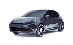 Schwarzes Auto auf Weiß Lizenzfreie Stockfotografie