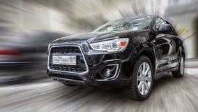 Schwarzes Auto Mitsubishi Lizenzfreie Stockfotos