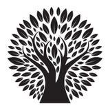 Schwarzes Baum-Logoschattenbild Lizenzfreies Stockfoto