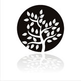 Schwarzes Baumzeichen vektor abbildung