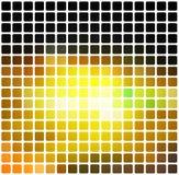Schwarzes braunes Gelbgrün rundete Mosaikhintergrund über weißem Quadrat Lizenzfreie Stockfotos