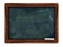 Schwarzes Brett mit einem Königholzrahmen Stockfotografie