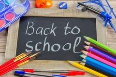 Schwarzes Brett mit zurück zu Schule Lizenzfreies Stockfoto