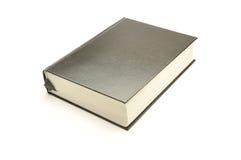 Schwarzes Buch auf einem weißen Hintergrund stockfoto