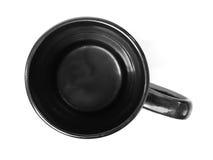 Schwarzes Cup getrennt Stockfotografie