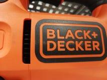 Schwarzes Deckerlogo Stockbilder