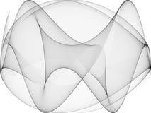 Schwarzes der OPkunst-Sinus-Kurven-zwei Lizenzfreies Stockfoto