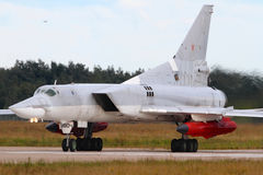 Schwarzes des Tupolev-Tu-22M3 9804 der russischen Luftwaffe bei Zhukovsky Lizenzfreie Stockfotografie
