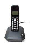 Schwarzes digitales schnurloses Telefon stockbilder