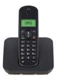 Schwarzes drahtloses Telefon Lizenzfreies Stockfoto