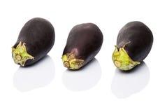 Schwarzes enthäutete Aubergine I Lizenzfreie Stockfotografie