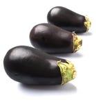 Schwarzes enthäutete Aubergine III Stockfotografie