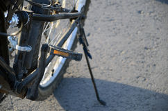 Schwarzes Fahrradhinterrad Lizenzfreies Stockbild