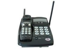 Schwarzes farbiges Funktelefon. lizenzfreie stockfotos
