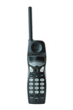 Schwarzes farbiges Funktelefon. stockfoto
