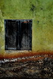 Schwarzes Fenster Stockfotografie