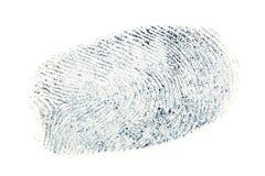 Schwarzes Fingerabdruckmuster lokalisiert auf weißem Hintergrund Lizenzfreies Stockfoto