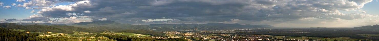 Schwarzes forrest Panorama 360° lizenzfreie stockfotos
